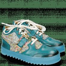 Sneakersy Maxima 5 Turquoise Textile Blush Sky Tongue