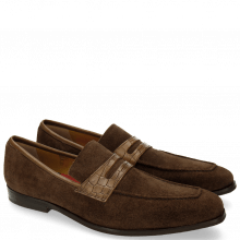 Mokasyny Lance 25 Suede Pattini Crock Dark Brown