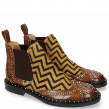 Botki Sally 45 Turtle Mid Brown Hairon Driveway