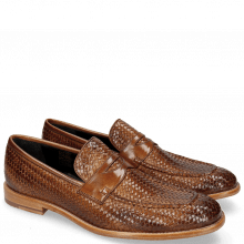 Mokasyny Eddy 44 Haring Bone Weave Tan Lining Nappa