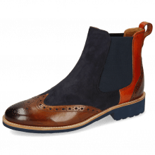 Botki Selina 29 Wood Suede Reflex Blue Winter Orange