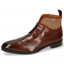 Botki Jeff 34  Brown Suede Pattini Cognac