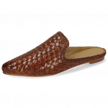 Mule Lydia 2 Woven Scale Tan Lining