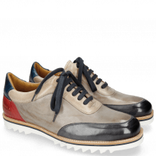 Sneakersy Niven 9 London Fog Grigio Digital Navy Ruby
