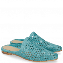 Mule Joolie 14 Woven Turquoise