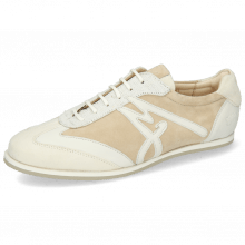 Sneakersy Pearl 4 Chrome Free Suede Cream Nappa White Nude