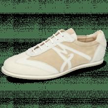 Sneakersy Pearl 4 Chrome Free Suede Cream Nappa White Nude