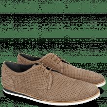 Sneakersy Florian 1 Nubuk Perfo Dark Taupe