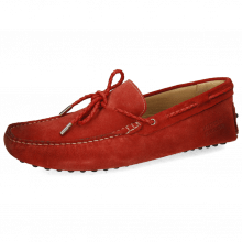 Mokasyny Nelson 3 Suede Dark Red Laces Woven