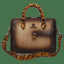 Torebki Vancouver Taupe Shade Dark Brown Hairon Jaguar