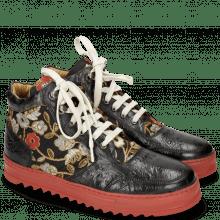 Sneakersy Maxima 1 Ostrich Black Brocade
