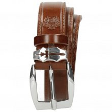 Paski Larry 1 Mid Brown Sword Buckle