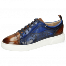Sneakersy Harvey 12 Tan Electric Blue Shade Lasercut Leopard