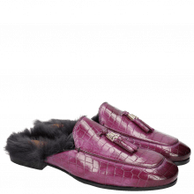 Mule Clive 5 Crock Eggplant Accessory Fur Lining