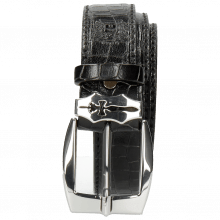 Paski Larry 2 Crock Black Sword Buckle