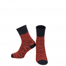 Skarpety Charlie 1 Crew Socks Red Navy