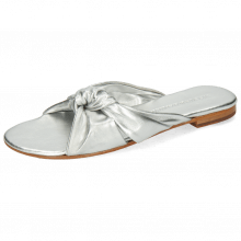 Mule Hanna 63 Nappa Silver Footbed