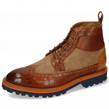 Botki Matthew 9 Venice Crock Cognac Scotch Grain Sand