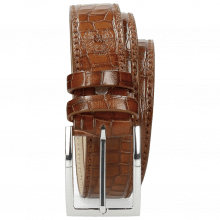 Paski Larry 1 Crock Mid Brown Classic Buckle