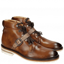 Botki Trevor 3 Tan Strap Ash Crip White Welt Dark Brown