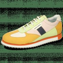 Sneakersy Nadine 1 Nubuck Kumquat Cream Lime Rose
