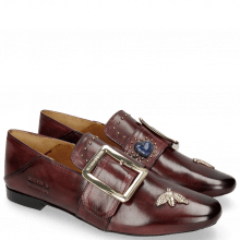 Mokasyny Luna 2 Burgundy Bee Gold