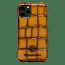 Etui iPhone Eleven Crust Turtle Yellow Edge Shade Mogano