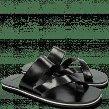 Sandały Sam 15 Black Embrodery Flower