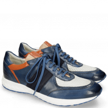 Sneakersy Blair 13 Vegas Navy Glove Nappa Deep Kumquat Lycra