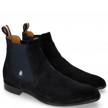 Botki Ryan 1 Suede Pattini Navy Shade Black Sherling