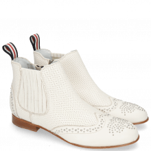Botki Sandy 4 Nappa Glove Perfo Cream Elastic Off White