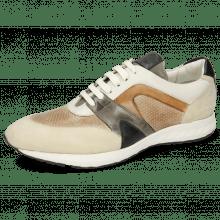 Sneakersy Blair 9 Kid Suede Ivory Imola Perfo Powder Nappa White
