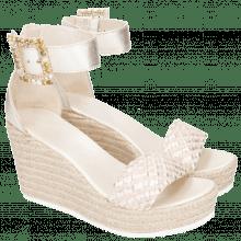 Sandały Abby 2 Cherso Bisque Raffia Rosa