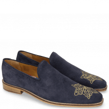 Mokasyny Leonardo 7 Suede Mr Touch Navy