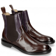 Botki Sally 113 Mogano Light Purple Elastic Dark Brown