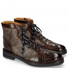 Botki Trevor 18 Crock Mid Brown Hairon Halftone