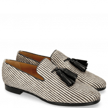 Mokasyny Scarlett 20 Hairon Stripes Black White