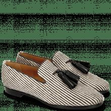 Mokasyny Scarlett 20 Hairon Stripes Black White