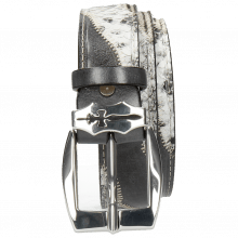 Paski Larry 2 Snake Hairon Black White London Fog Sword Buckle