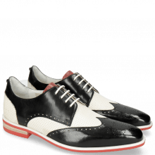 Derby Dave 2 Black Vegas Perfo White Nappa Red