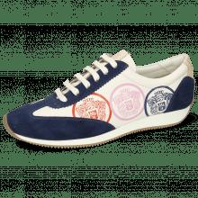 Sneakersy Rocky 6 Oily Suede Navy Flex White