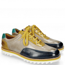 Sneakersy Niven 10 Mid Blue Digital Olivine Mermaid Laces Yellow
