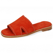 Mule Elodie 20 Parma Suede Orange Rivets Nickel