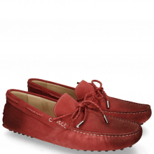 Mokasyny Nelson 3 Suede Pattini Red Shade Burgundy
