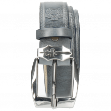 Paski Larry 1 Moroccan Blue Sword Buckle