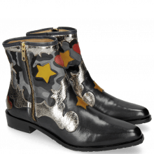 Botki Marlin 12 Navy Cromia Gunmetal Camo Satin Blue Stars Yellow Heart Ruby