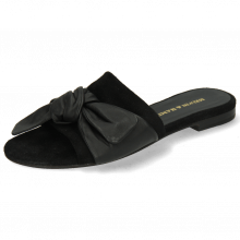 Mule Hanna 65 Nappa Black Footbed Suede Black