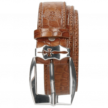 Paski Larry 1 Crock Tan Sword Buckle