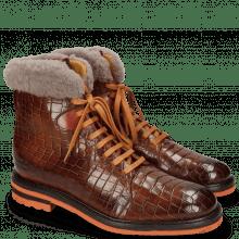 Botki Trevor 19 Crock Wood Winter Orange Fur Taupe
