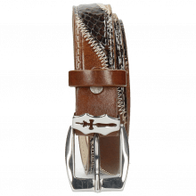 Paski Linda 2 Mid Brown Python Brown Sand Sword Buckle